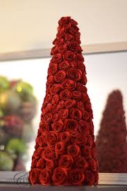 Paper Flower Christmas Tree Rolled Paper Roses Christmas Tree Create And Babble