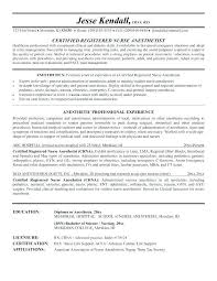 Anesthesiologist Resume Classy Anesthetic Nurse Sample Resume Colbroco