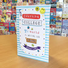 New College Starting Card Good Luck