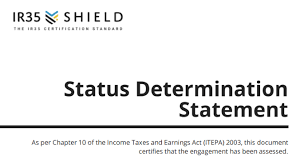 Check out our page for more samples. What Is An Ir35 Status Determination Statement Sds