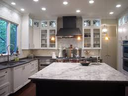 White Spring Granite Kitchen Furniture White Kitchen With L Shaped White Kitchen Counter Also