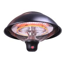 sundate hanging patio heater electric halogen patio heater with led light and