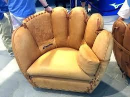 baseball glove chair and ottoman good looking set ball glov baseball glove chair joe colombo