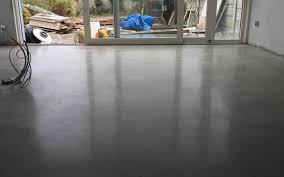 Polished concrete gold finish