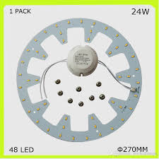 2018 1 pack diy install round 24w led ceiling light 2300lm pcb led plate dia 272mm circular techo led 120v 220v 230v 240v repalce 2d from proledlamps
