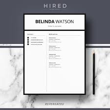 Minimalist Resume Template Word Professional Modern And Minimalist Resume Template For MS Word 9