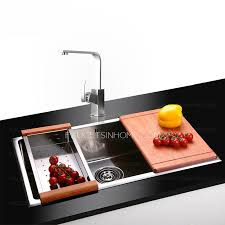 stainless steel single sink kitchen sinks with faucet