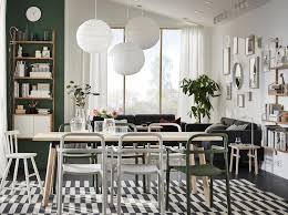 create your own indoor outdoor dining room solution with ypperlig white and green chairs crafted