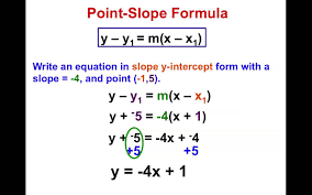 8th grade chapter 4 7 point slope formula