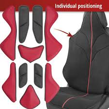 car seat cover x race black red seat