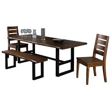 4 Piece Live Edge Table Set with Bench by Sunny Designs