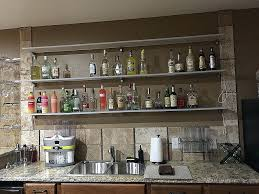 bar glass shelves paper sani dry shelf liner hanging suppliers bar glass shelves