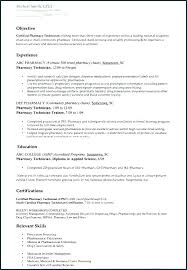 Pharmacy Technician Resume Objective Cool Pharmacy Technician Resume Examples Example Lead Pharmacy Technician