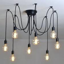 simple 8 light bulb black led multi pendant chandelier p blurry romantic multi pendant lights