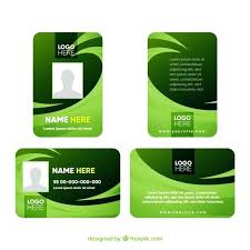 Id Card Template Vector Free Download School Psd Maker