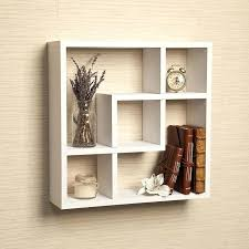 white square wall shelves b geometric square wall shelf with 5 openings