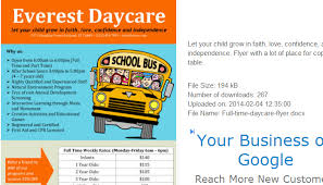 Childcare Flyers Samples Of Daycare Flyers Rome Fontanacountryinn Com