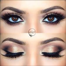 copper bridal eye makeup for traditional profile