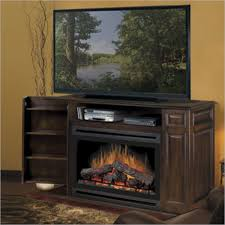 dimplex atwood tv stand with electric fireplace in burnished walnut 207361 sp033bw photo