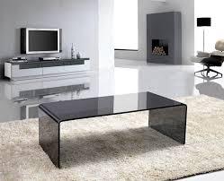 dark gray glass arch coffee table