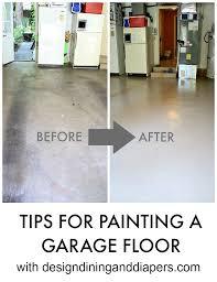 painting a concrete garage floor best diy garage floor paint