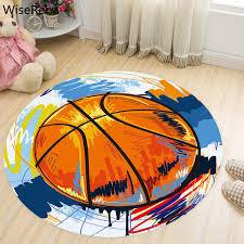 basketball round carpet living room parlor children kids bedroom chair rugs toilet bathroom mat boy decorations