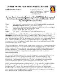 Media Advisory Media Advisory Health4all Kids Launch Press Conference 3 15 16