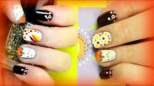 Easy Fall Nail Designs For Beginners 2 Thanksgiving Nail Art Designs For Beginners Diy Easy Fall Nails