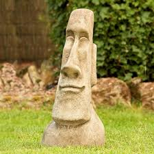 easter island head statues for garden australia designs