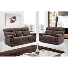 The Living Room Furniture Glasgow Glasgow Brown Chenille Fabric Recliner Collection With Fully