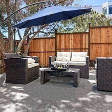 cantilever patio umbrella reviews offset uberhaus solar light with netting review