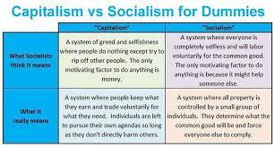 Socialism Vs Capitalism Chart Capitalism Vs Socialism Brilliantly Explained For Dummies