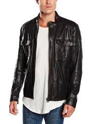 new hugo boss orange label jiron black 100 lamb leather biker jacket size 38r