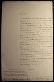 rene descartes handwritten letter by descartes