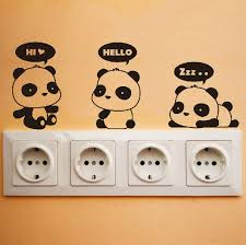 Small Picture Cute Panda Wall Decal DIY Wall Sticker Wall decor Vinyl