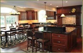 cherry kitchen cabinets black granite. Cherry Kitchen Cabinets With Black Granite Countertops \u0026 Dark Wood Floors C