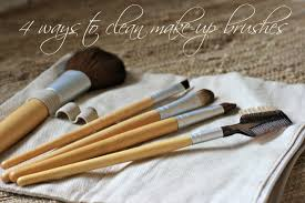 4 ways to clean make up brushes