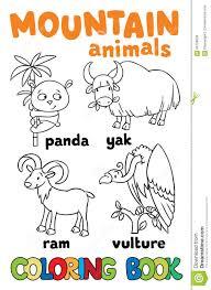 Sistema De Animales Divertidos De La Monta A Libro De Colorante Colorantes Animales L