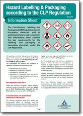 chemical information sheet hazard labelling packaging according to the clp regulation