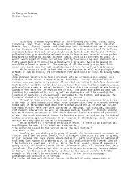 torture essay an essay on torture interrogation torture catholic  an essay on torture interrogation torture