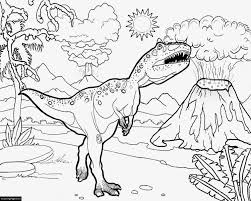 Jurassic World T Rex Printable Coloring Page Coloring Pages