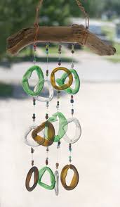 interior, Funny Transparent Ornament Of Homemade Windchimes Designed In DIY  Concepts Hung On Wooden Holder