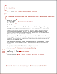 Cover Letter Format Spacing Business Letter Format Mla Curriculum