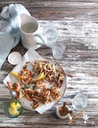 Lemon Oregano Seafood Salad - Fresh Hunger