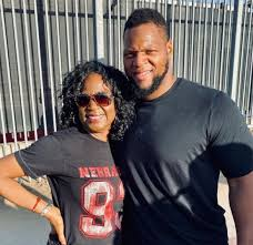 Ndamukong Suh with his mother Bernadette Lennon   Celebrities ...