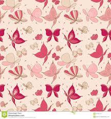 Butterfly Pattern Interesting Seamless Butterfly Pattern Stock Vector Illustration Of Effect