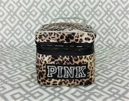 victoria s secret vs pink makeup bag leopard print travel cosmetic organizer bag