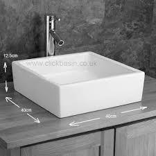 details about moda white countertop bathroom sink 40cm x 40cm square ceramic wash basin sink