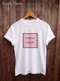 chanel shirt. parody chanel t shirt \u2013 funny t-shirts, a womens designer brand tshirt, chocolate tshirts, shirts, tshirt.