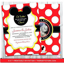 Create Your Invitation Minnie Mouse 1st Birthday Invitations Free Invitation For Baby